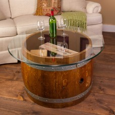 Glass Top Crate Coffee Table Napa East