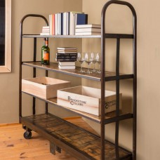Industrial Vintage Cart With Shelves Napa East