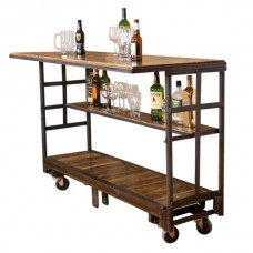 Industrial Vintage Cart Rolling Bar Napa East