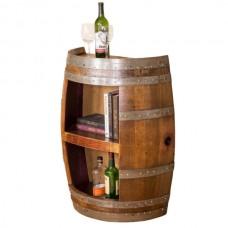 Half Barrel Open Front with Shelf