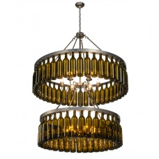 150900 80 Wine Bottle Two Tier Chandelier