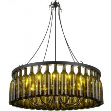 158134 Wine Bottle Chandelier Meyda