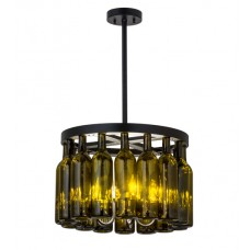 164832 Wine Bottle Chandelier