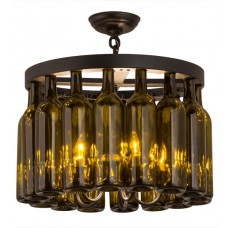 168490 Wine Bottle Chandelier