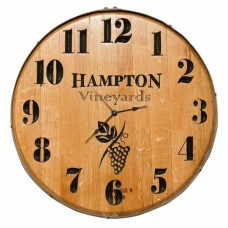 Model: 1059 Wine Barrel Clock Personalized Grapes