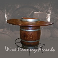 5011 Half Barrel Bistro Table