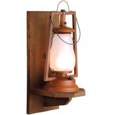 49er Wood Wall Mount Rustic Lantern