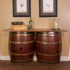 Double Half Barrel Bar Wall Mount