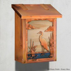 Blue Heron Mailboxes Vertical Design