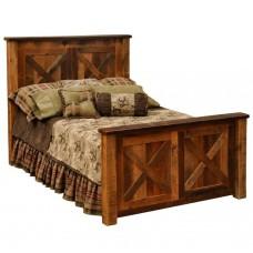 Barnwood Barndoor Bed