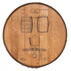 Barrel Head Art Wine Barrel