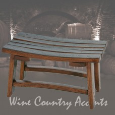 Wine Stave Cooper Stool by The Oak Barrel Company