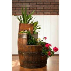 Sonoma Barrel 3 Tier Planter