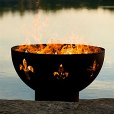 Fluer de lis Outdoor Fire Pit Art