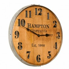 Wine Barrel Clock Personalized