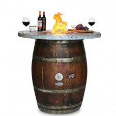 Grand Wine Barrel WOOD STAVE TOP Vin De Flame