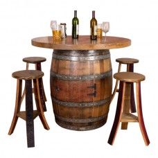 Wine Barrel Round Top Table Napa East