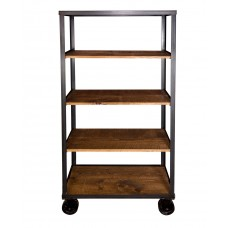 Industrial Tall Bookcase Cart Napa East