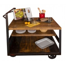 Industrial Island Cart Table Napa East