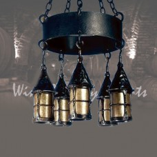 LF199 Cottage 5 Lantern Chandelier