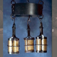 LF202M Manor 3 Lantern Chandelier