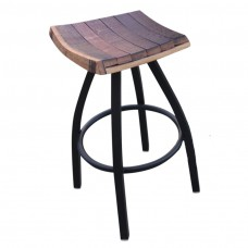 Wine Stave Swivel Stool Metal Base