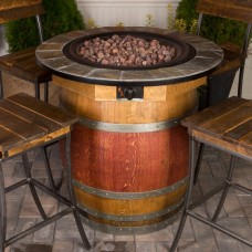1122 Wine Barrel Fire Pit Table Napa East