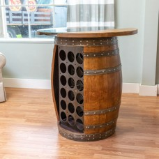 Wine Barrel Storage Table