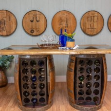 Wine Barrel Storage Bar Table