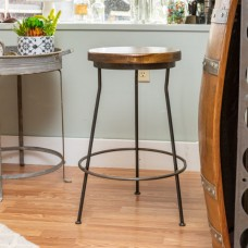 Industrial Metal and Wood Factory Stools