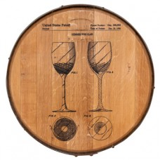 Barrel Head Art Wine Glass