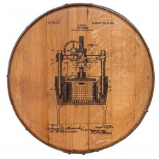 Barrel Head Art - Wine Press