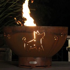 Funky Dog Gas Fire Pit Art