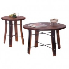 Round Stave Coffee Table Set 2-day designs