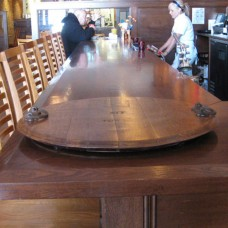 Wine Barrel Head Serving Tray by The Oak Barrel Company