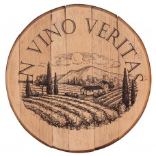 Barrel Head Art In Vino Veritas