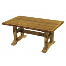 Barnwood Rectangle Trestle Dining