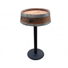 Wine Barrel Head Table Metal Base G