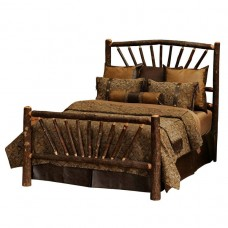 Fireside Lodge Hickory Sunburst Bed