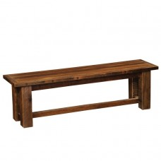 Barnwood Bench Fireside Dining