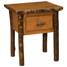 Fireside Traditional Hickory One Drawer Nightstand