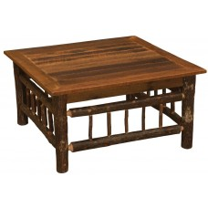 Fireside Lodge Hickory Twig Square Coffee Tables