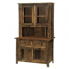 "Barnwood 48"" Buffet & Hutch Hickory Legs"