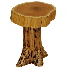 Cedar Stump End Table with Slab Top Fireside