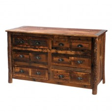 Hickory Legs Barnwood Six Drawer Dresser