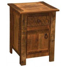 Barnwood Legs Enclosed Nightstand