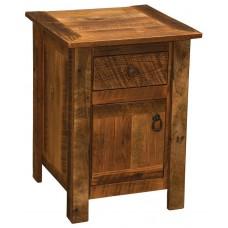 Barnwood Legs Enclosed Nightstand