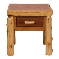 Cedar One Drawer End Table Fireside
