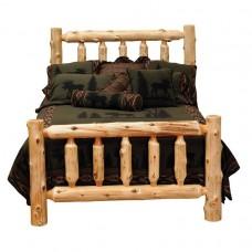 Traditional Cedar Log Bed Fireside