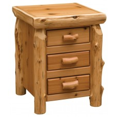 Fireside Cedar Three Drawer Nightstand